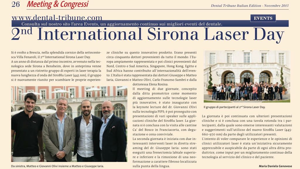 2nd International Sirona Laser Day