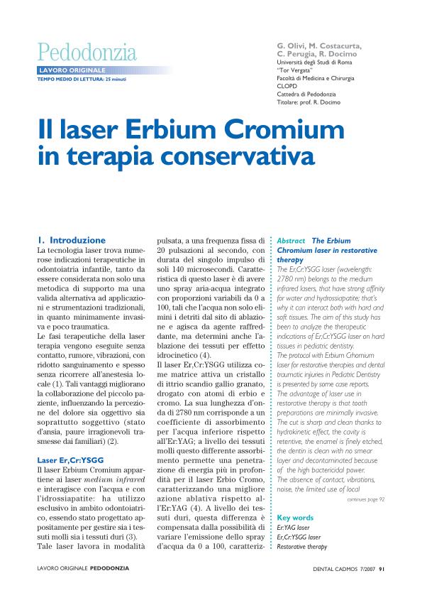 Laser erbium cromium